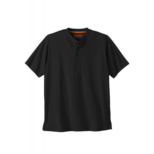 Kingsize Heavyweight Cotton Short Sleeve Henley