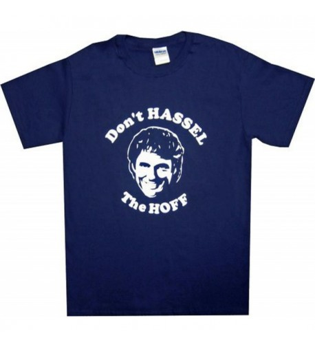 Dont Hassel Hoff t shirt blue