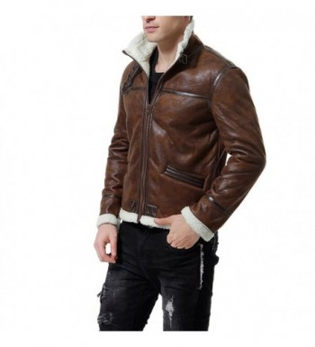 Cheap Designer Men's Faux Leather Coats