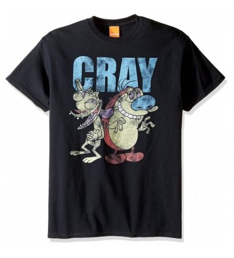 Nickelodeon Stimpy T Shirt Black Medium