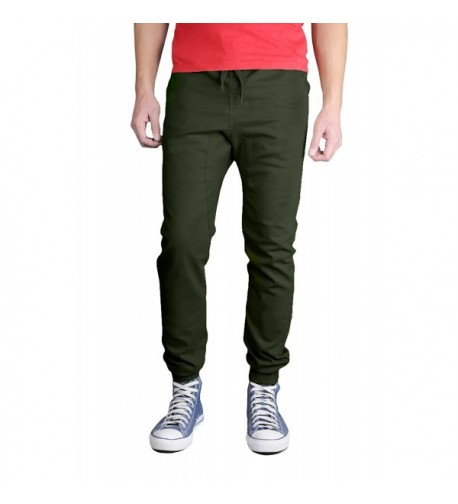 Neo Blue Twill Jogger Olive