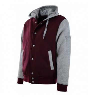 ChoiceApparel Baseball Detachable 901 Burgundy Grey