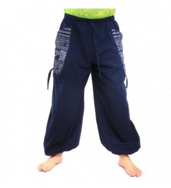jing shop Hippie Pants Pockets