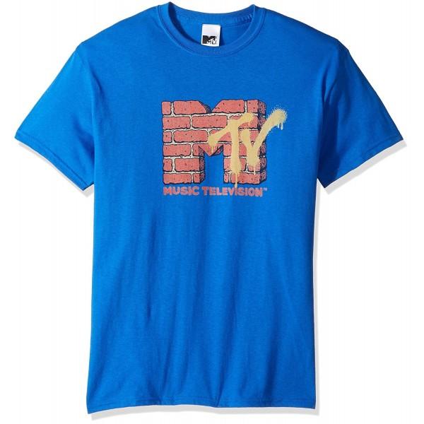 MTV Mens Brick T Shirt Royal