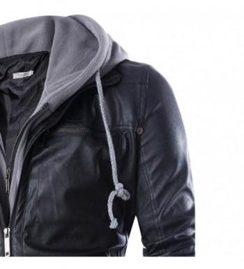 Cheap Men's Faux Leather Coats
