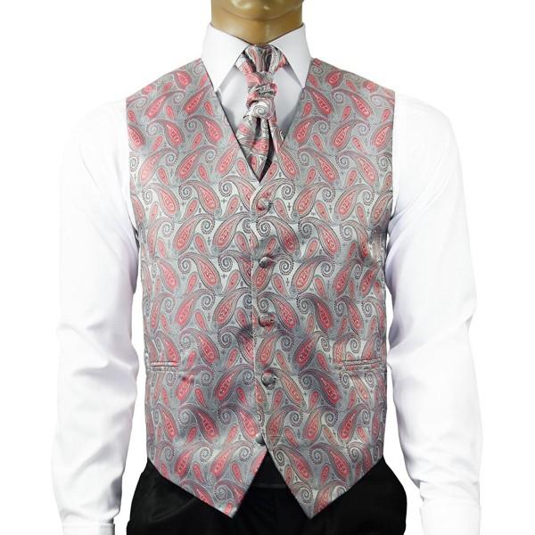 Silver Cayenne Wedding Cravat Cufflinks