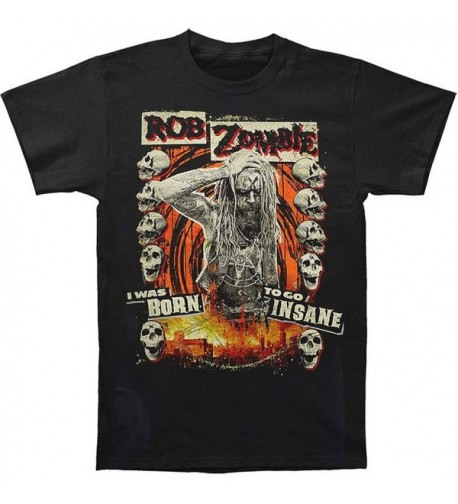 Zombie Born Insane Black T Shirt
