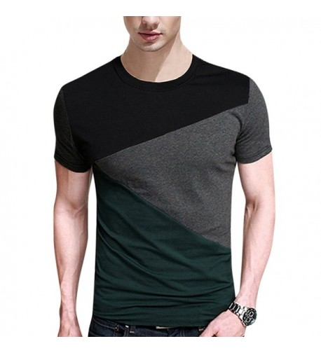 Yong Horse Contrast Stitching T Shirt