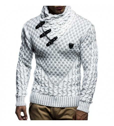 Leif Nelson Pullover Leather Accents