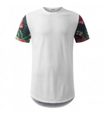 URBANCREWS Hipster Sleeve Longline T Shirt
