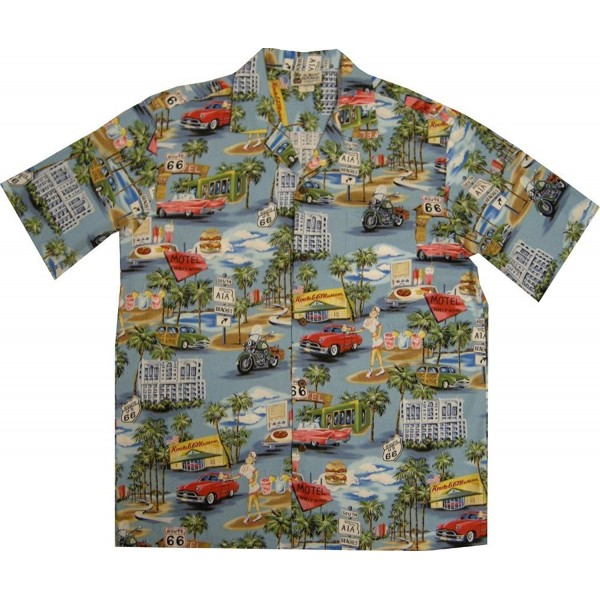 Blue Vintage Route Hawaiian Shirt