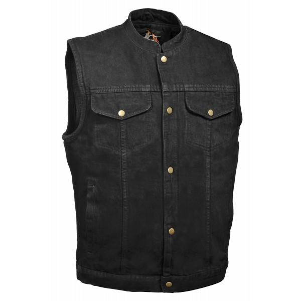 Front Denim Style Pocket Black
