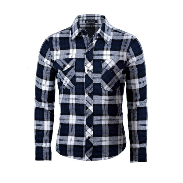 uxcell Allegra Check Flannel Pockets
