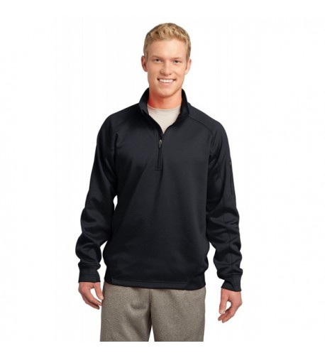 Sport Tek Mens Fleece Pullover Black