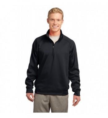 Sport Tek Mens Fleece Pullover Black