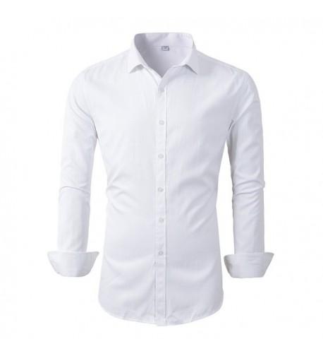 Benibos Sleeve Dress Shirts White