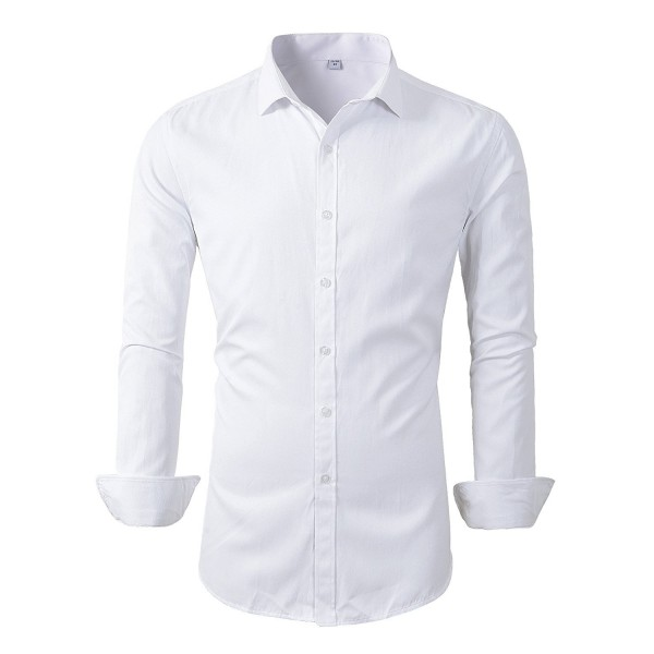 Benibos Sleeve Dress Shirts White