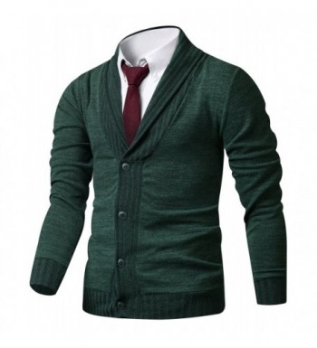 HARRISON83 Button Cardigan Sweater A_NS1095 KHAKI M