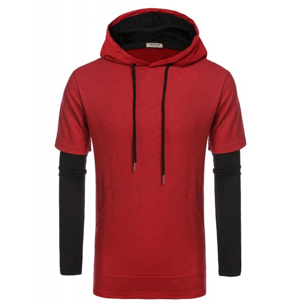 HOTOUCH Sleeve Length Hooded Pocket