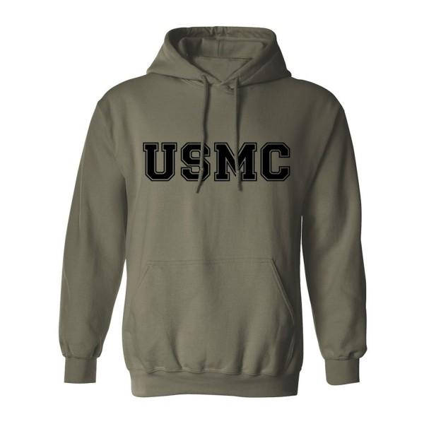 Athletic Marines Hooded Sweatshirt Military