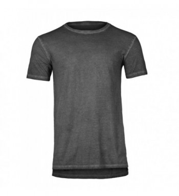 Pigment Long Line Sleeves T Shirt Charcoal