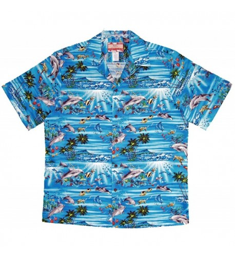 Diamond Dolphin Hawaiian Aloha Shirt
