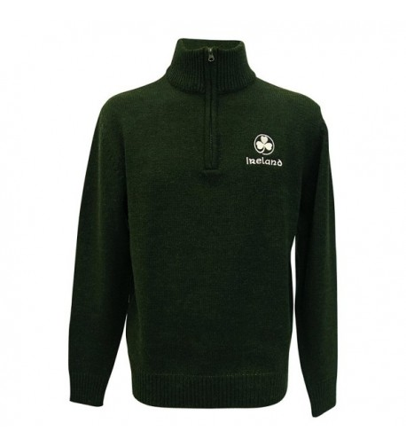 Ireland Sweater Embroidered Shamrock Colour
