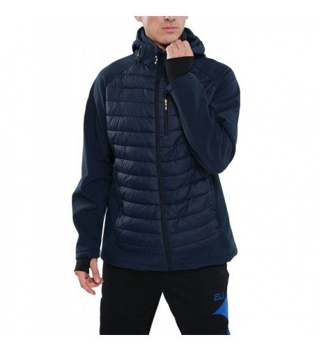 PHIBEE Windproof Full Zip Polyester Softshell