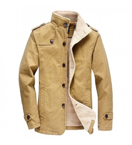 Vcansion Cotton Windbreaker Jacket Trench