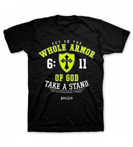 Whole Armor Tee Black Christian