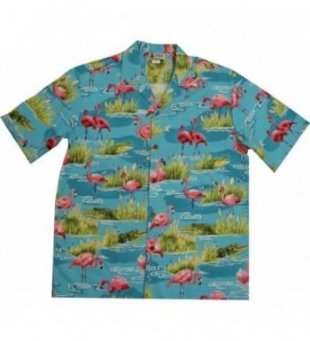 Flamingo Alligator Crocodile Hawaiian Shirt