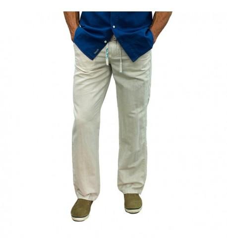 Short Fin Drawstring Linen Pants