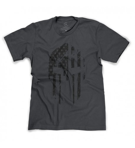 Military Spartan American Distressed T Shirt
