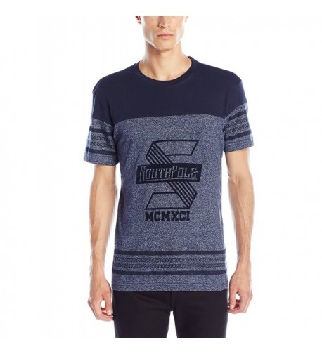 Southpole Sleeve Marled T Shirt Graphics