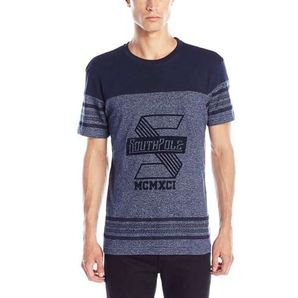 Southpole Sleeve Marled T Shirt Graphics