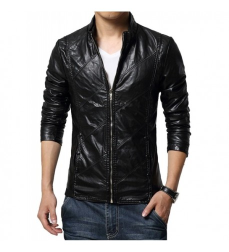 Idopy Casual Trucker Leather Jacket