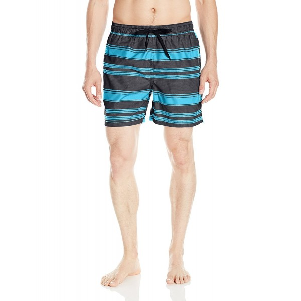 d2f1ee82e6 Men's Haze Stripe Volley Swim Trunk - Black - CU12N3UT7H9