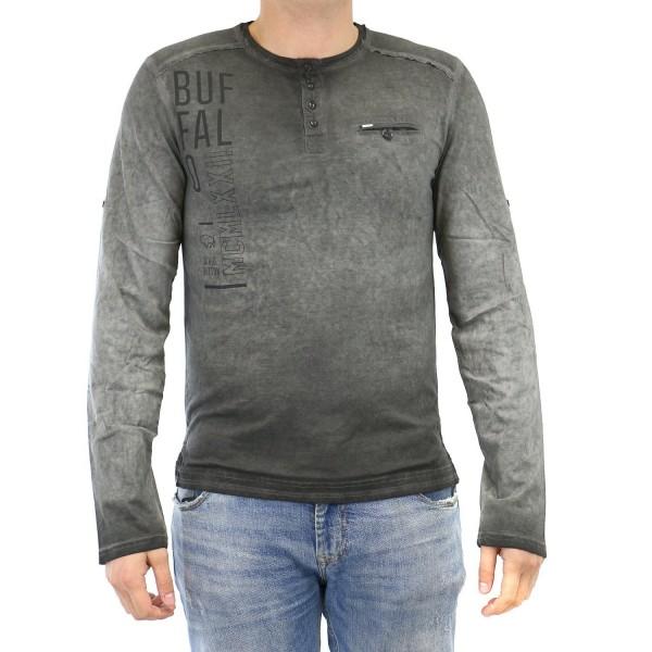 BUFFALO Nicliffs Sleeve Henley Shirt