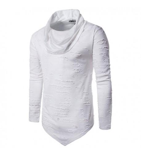 LifeHe Black Hoodies Sweatshirts Irregular