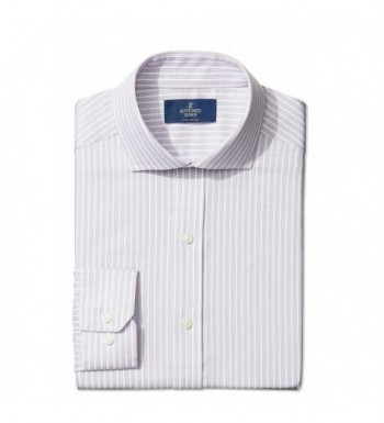 Mens Fitted Cutaway Collar Pattern Non Iron Dress Shirt Without