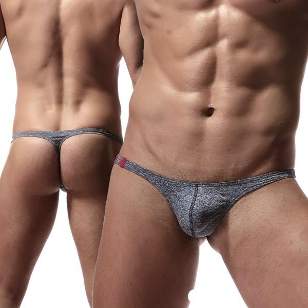 Men's sexy thongs low rise underwear ice