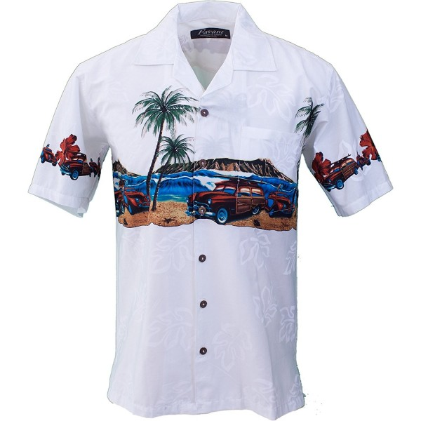 f68d3d88 Tropical Luau Beach Novelty Car Print Men's Hawaiian Aloha Shirt ...