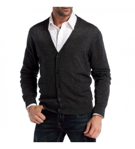 CHAUDER V Neck Cardigan Cashmere Pockets