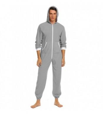 Ekouaer Hooded Pajamas Jumpsuit Sleepwear