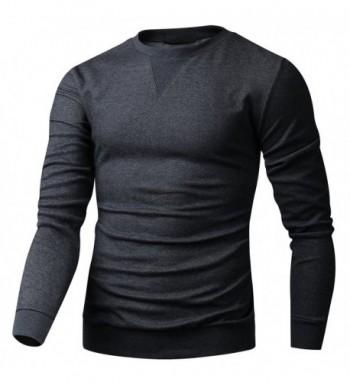 HARRISON83 Lightweight Crew Neck Sweatshirt A_MN1011 CHARCOAL 2XL