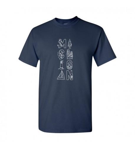Michigan Symbols Unisex T Shirt X Large