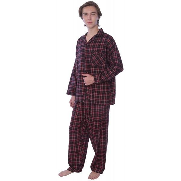 Men/'s Plus Size 100/% Cotton Flannel Plaid Lounge Pants,2X,Gray By Beverly Rock