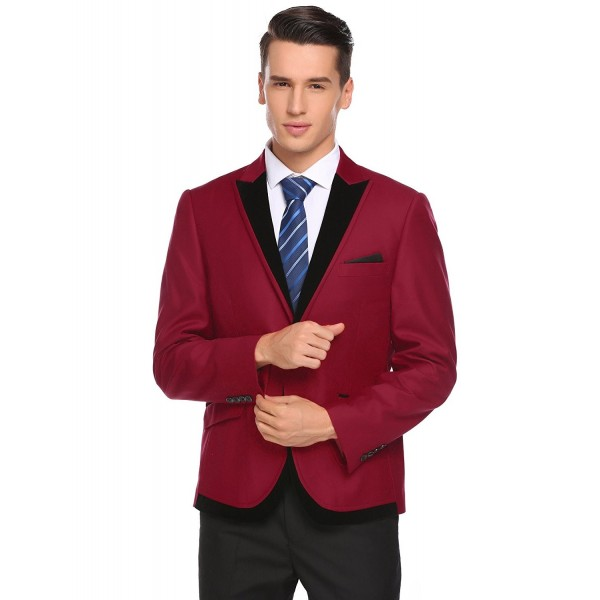 COOFANDY Button Casual Notched Blazer