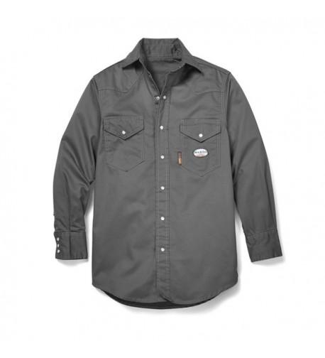 Rasco Gray Western Shirt Snaps