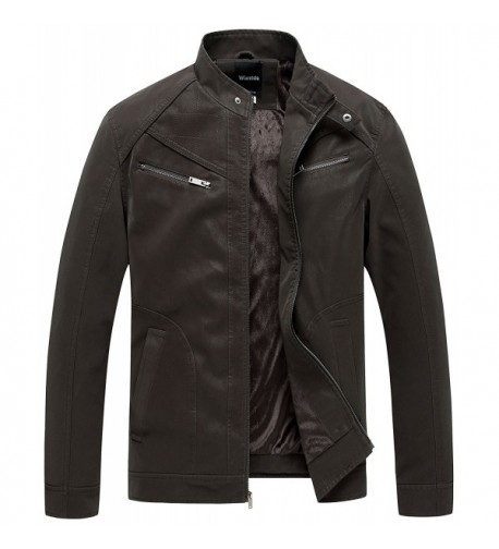 Wantdo Leather Jacket Outwear Medium